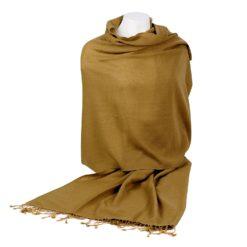 Pashmina Shawl - 90x200cm - 70% Cashmere / 30% Silk - Antique Bronze