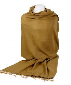 Pashmina Shawl - 90x200cm - 70% Cashmere / 30% Silk - Antique Bronze