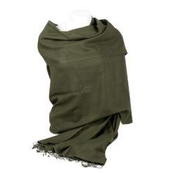Pashmina Shawl - 90x200cm - 70% Cashmere / 30% Silk - Grape Leaf
