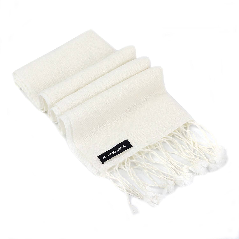 ea9ef2acc Pashmina Scarf – 30x150cm – 100% Cashmere – Natural White – Mypashmina