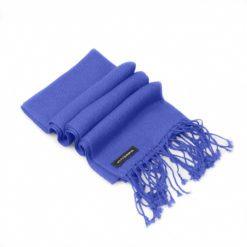 Pashmina Scarf - 30x150cm - 100% Cashmere - Blue Iris