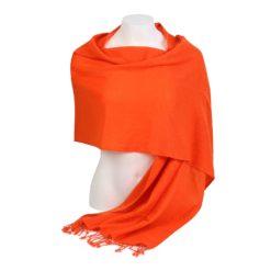 Pashmina Large Scarf - 45x200cm - 100% Cashmere - Spicy Orange