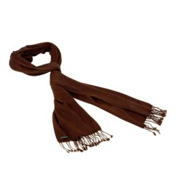 Pashmina Large Scarf - 45x200cm - 100% Cashmere - Cocoa Brown