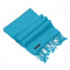 Pashmina Large Scarf - 45x200cm - 100% Cashmere - Blue Mist