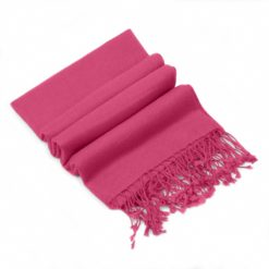 Pashmina Stole - 70x200cm - 100% Cashmere - Hot Pink