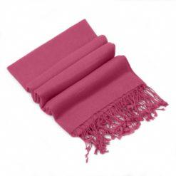 Pashmina Stole - 70x200cm - 100% Cashmere - Red Violet