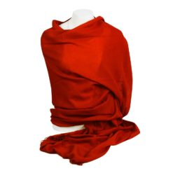 Pashmina Shawl - 90x200cm - 100% Cashmere - Barn Red