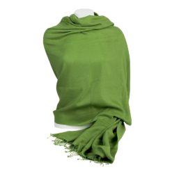 Pashmina Shawl - 90x200cm - 100% Cashmere - Forest Green