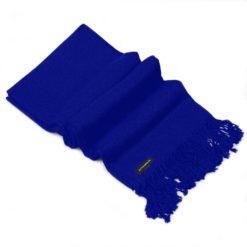 Pashmina Shawl - 90x200cm - 100% Cashmere - Clematis Blue