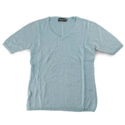 Ladies T-Shirt - 80% Bamboo/20% Cashmere - Large - Eggshell Blue (CLP445)