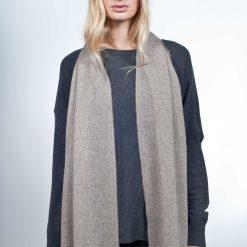 Scarf - 47x190cm - 50% Cashmere / 50% Wool - Noce