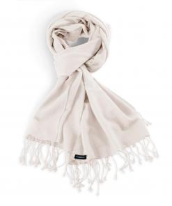 Pashmina Stole - 70x200cm - 70% Cashmere / 30% Silk - Natural White
