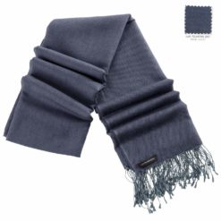 Pashmina Stole - 70x200cm - 70% Cashmere / 30% Silk - Folkstone Grey