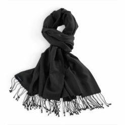 Classic Pashmina Stole - 70x200cm - 70% Cashmere / 30% Silk - Black