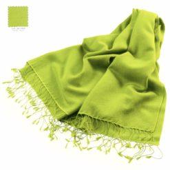 Pashmina Stole - 70x200cm - 70% Cashmere / 30% Silk - Lime Green