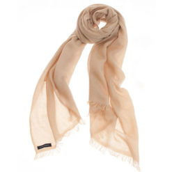 Pashmina Ring Stole - 70x200cm - No Tassels - Candied Ginger mp66 - 100% Cashmere