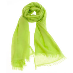 Pashmina Ring Stole - 70x200cm - No Tassels - Lime Green mp89 - 100% Cashmere