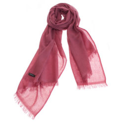 Pashmina Ring Stole - 70x200cm - No Tassels - Dry Rose mp127 - 100% Cashmere