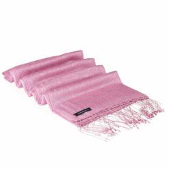 Jacquard Water Pashmina - Pink Lady